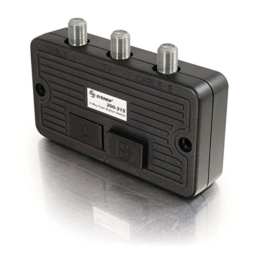 Coaxial Steren - C2G 41015 High Isolation AB Switch, Black