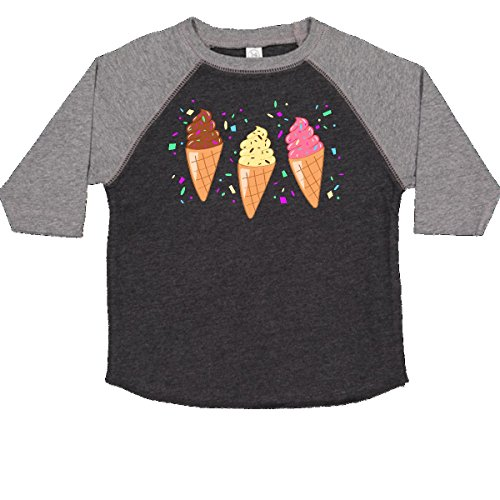 inktastic - Ice Cream Trio with Toddler T-Shirt 4T Smoke and Granite ()