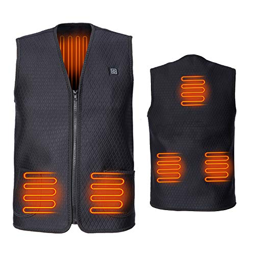 Sesecolor Heating Vest Men and Women Heating Vest Cold Weather Electric Jacket for Camping Hiking Hunting Golf Electric Scooter Outdoor Sports Warmer Cold-Proof Heating Pad