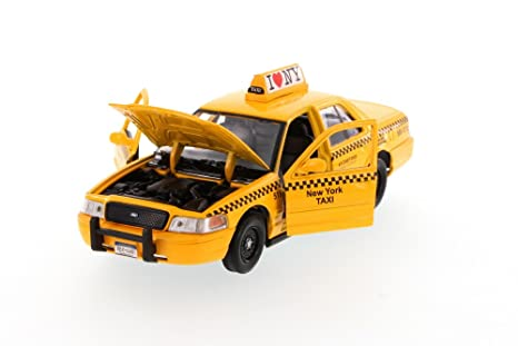 24160483b295f NYC New York City Taxi Cab Ford Crown Victoria 1:24 Scale I Love New York