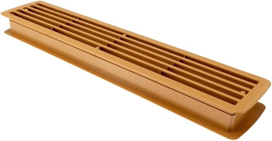 Gedotec Rejillas de Ventilación para Puerta   Cubierta Rectangular para Aeración   Instalación Fácil en Ambos Lados de Puerta de Baño, Dormitorio   Haya   457 x 92 mm   1 Juego