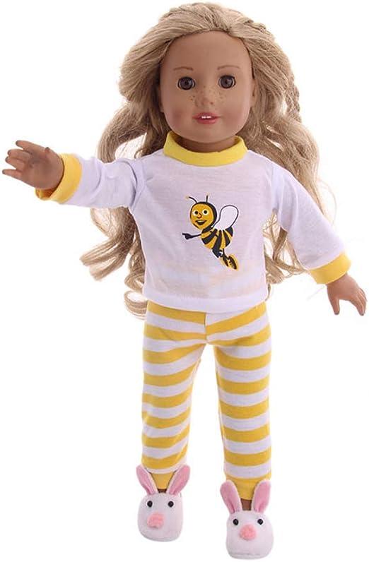 FairOnly - Disfraz de Abeja para niña de 18 Pulgadas con Estampado ...