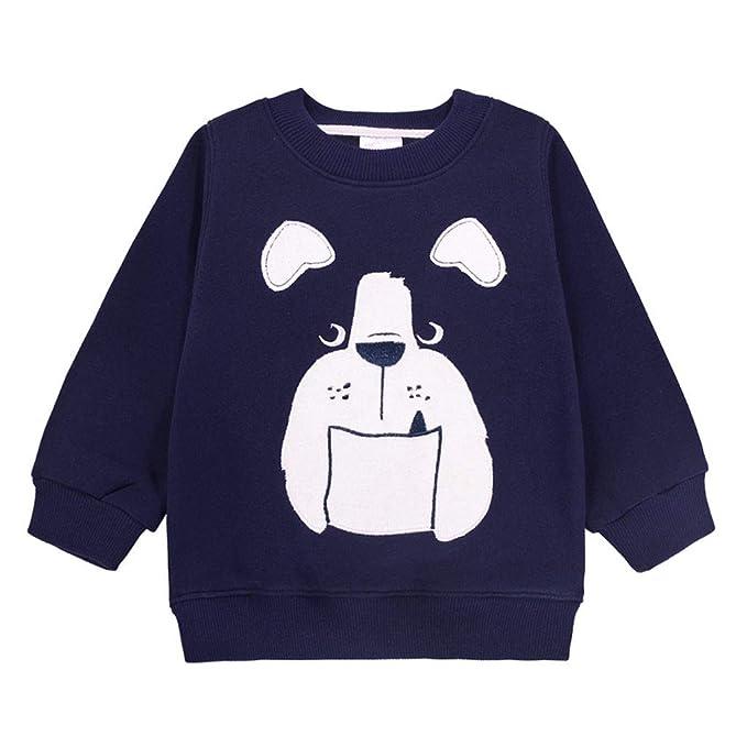 Sudaderas para Navidad Niños Camisetas de Manga Larga Pull-Over Bebé Lana Sweatshirt Casual Ropa de Navidad: Amazon.es: Ropa y accesorios