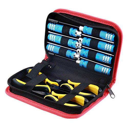(Wholesale 10pcs/Set Ball Link 10 in 1 RC Helicopter Screwdriver Pliers Hex Hand Repair Tools Kits(1set) Rc Tools Set Dropship)
