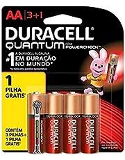 Pilha Alcalina AA Pequena DURACELL Quantum Leve 4 Pague 3