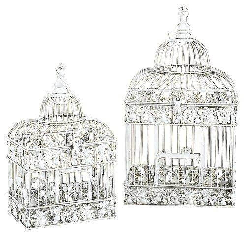Deco 79 82676 2-Piece Metal Square Bird Cage Set UMA Enterprises - LG