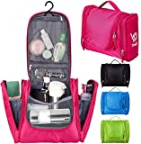 Bago Travel/Home Toiletry Bag for Men Women & Kids. A Great Makeup Hanging Cosmetic Pouch or Toiletries Organiser Bag for Girls (Pink)