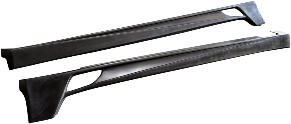 Side Skirts Compatible With 2004-2008 Acura TSX PU Black Side Bottom Line Extension by IKON MOTORSPORTS 2005 2006 2007
