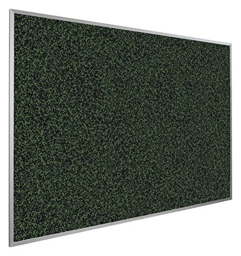 (Push-Pin Bulletin Board, Recycled Rubber, 48'H x 144'W, Green)
