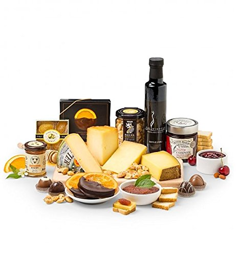 GiftTree Premium Cheese Tasting Experience - Fruit & Artisan Cheese Gift Basket by GiftTree