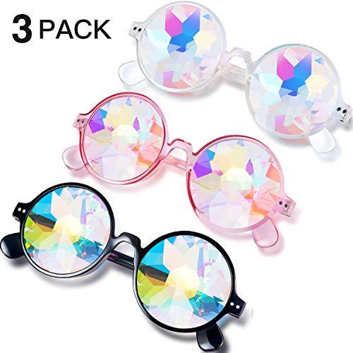 Festivals Kaleidoscope Rainbow Sunglasses, Prism, Style Set 1, Size 14.0