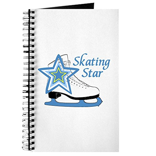 CafePress Skating Star Ice Skate Journal Spiral Bound Journal Notebook, Personal Diary, Lined