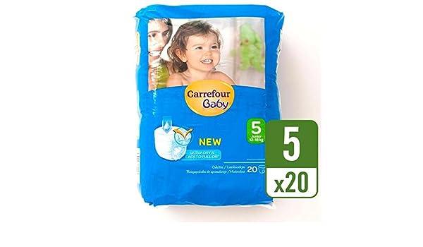 Carrefour bebé Ultra Dry Pull On tamaño 5, bolsa de transporte, 20 unidades por paquete: Amazon.es: Bebé