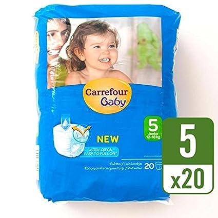Carrefour bebé Ultra Dry Pull On tamaño 5, bolsa de ...