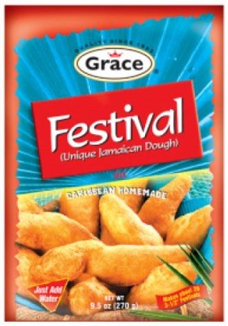 GRACE FESTIVAL MIX (UNIQUE JAMAICAN DOUGH) 9.5OZ 2PK