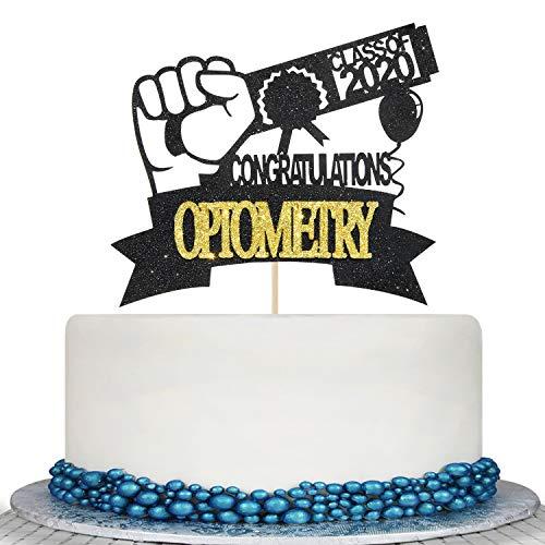 2020 Graduation Optometry Cake Topper - High School/College Graduate Congratulations Cake Decorations-Congrats Grad Graduation Party Decorations Supplies