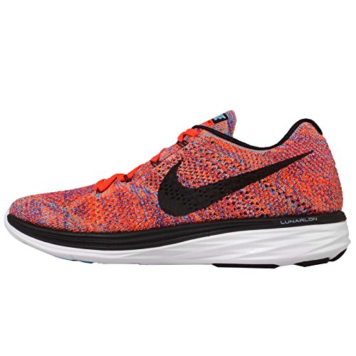 Nike Hommes Flyknit Lunar3, Concord / Noir-total Cramoisi-total Orange, 7 M Us