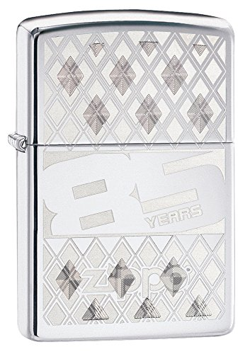 Zippo 85th Anniversary Pocket Lighter, High Polish Chrome