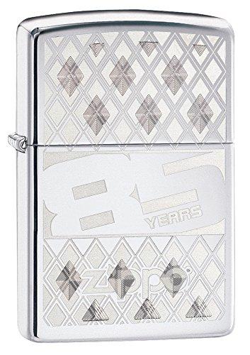 UPC 041689123376, Zippo 85th Anniversary Pocket Lighter, High Polish Chrome