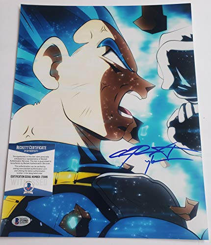 Chris Sabat autographed 11x14 poster photograph Dragon Ball Z Super Vegeta ()