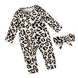 Newborn Baby Girl Clothes Leopard Long Sleeve