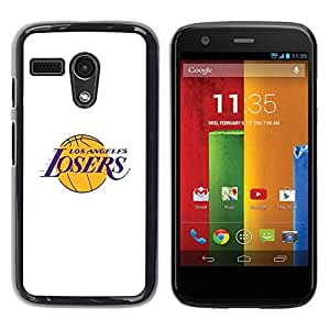 Paccase / SLIM PC / Aliminium Casa Carcasa Funda Case Cover - Angeles Losers Basketball Team Funny - Motorola Moto G 1 1ST Gen I X1032