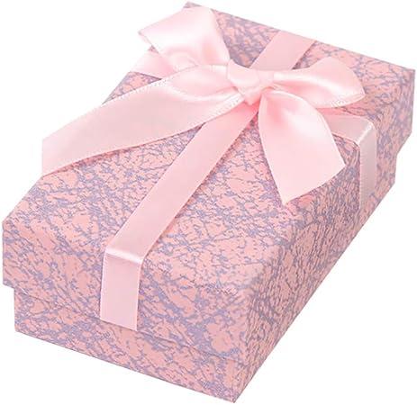 WDILO - Caja de Regalo de cartón con Tapa Rectangular (1 Unidad), diseño de Lazo, tamaño pequeño, Rosa, 2.3 * 8.3cm: Amazon.es: Hogar