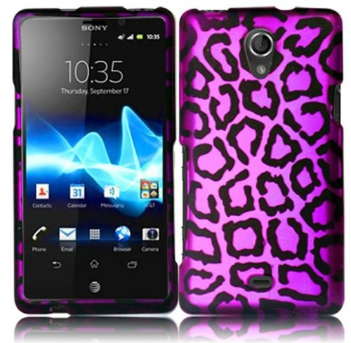 Bundle Accessory for AT&T Sony Ericsson Xperia TL LT30at -Purple Leopard Designer Case Protective Cover + Lf Stylus Pen + Lf Screen Wiper - Sony Ericsson Touch Screen