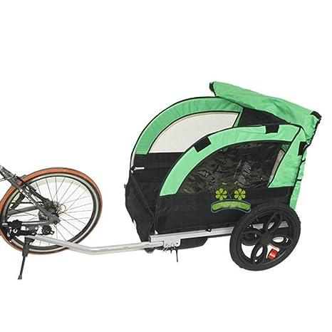2 Niños Niños Bicicleta Remolque detrás del Remolque Cochecito de Bebé Bicicleta Triciclo de Doble Asiento