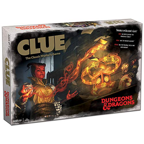 Clue Dungeons & Dragons | Collectible Dungeons and Dragons Clue Game (2019 Version) | Officially Licensed D&D Board Game