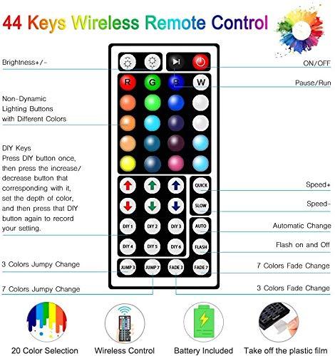 LETION LED Ruban,Ruban LED 10 m,300LEDs 5050 RGB SMD avec télécommande infrarouge 44 touches,12V 33FT Lumière d\'Ambiance Décoration pour Exterieur,Chambre,Carnaval,Projecteurs[Classe énergétique A+++]
