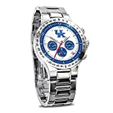 University of Kentucky Wildcats Men's Stainless Steel Chronograph Collector's Watch by The Bradford Exchange