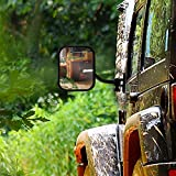 Door Off Mirrors Compatible with Jeep Wrangler TJ