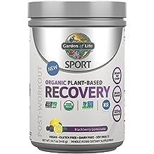 Garden of Life Sport Organic Post Workout Recovery Drink Antioxidant Supplement, Vegan, Blackberry Lemonade, 15.7oz (446g) Powder