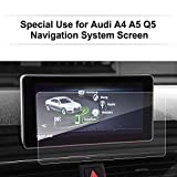 LFOTPP Audi A4 A5 Q5 2017 2018 Glass Car Navigation Screen Protector,[9H] Clear Tempered Glass Center Touch Screen Protector Anti Scratch High Clarity