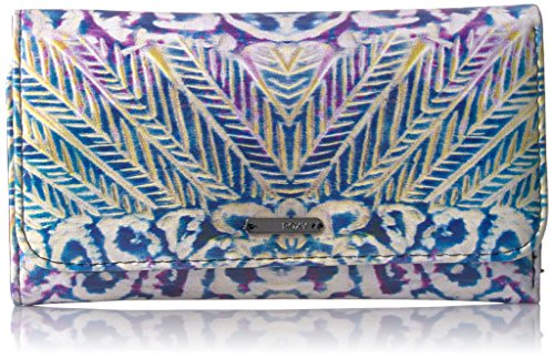 Roxy Women's My Long Eyes Printed Tri-Fold Wallet Checkbook Cover, Marshmallow Ax Labana Aguila, One Size