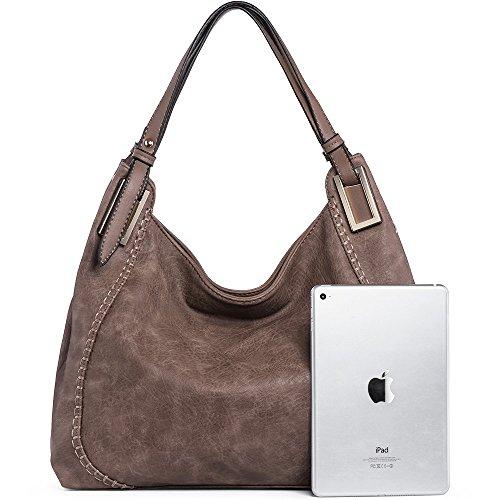 Purse Handle Tote Handbags Bags Leather Bags PU JOYSON A Satchel Shoulder Grey Top Women Brown z0qHSnwPn