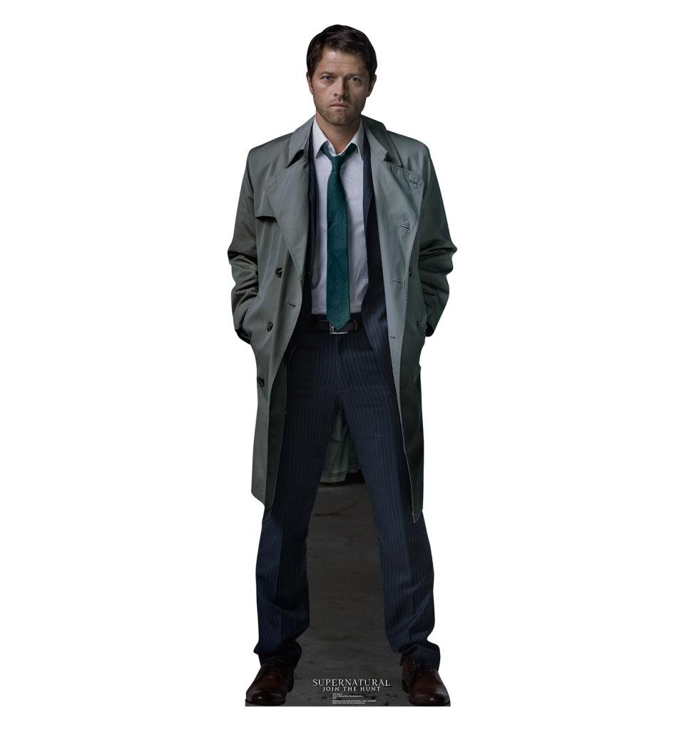 amazoncom castiel the cwu0027s advanced graphics life size cardboard standup home u0026 kitchen