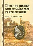 img - for Droit et justice dans le monde grec et hellenistique (Journal of Juristic Papyrology Supplement) (French Edition) book / textbook / text book