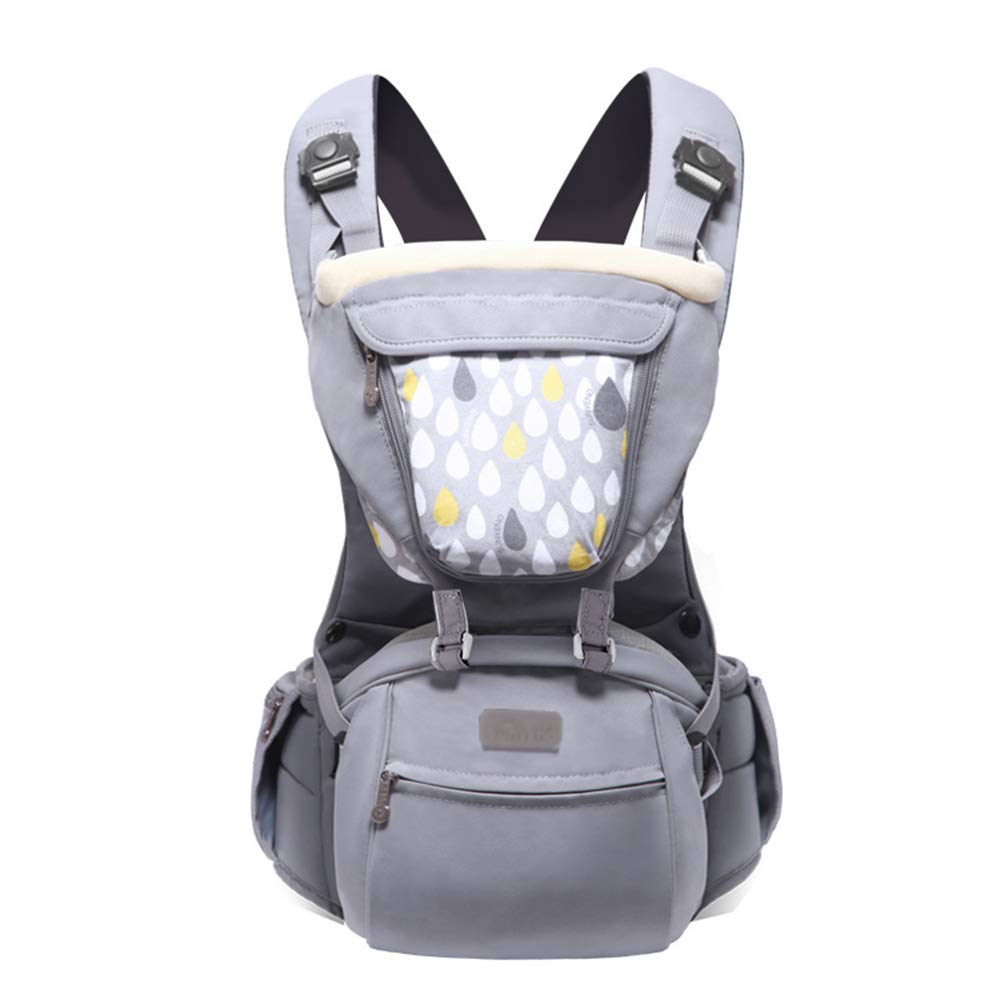 XBYEBD Porte-bébé Ergonomique, Porte-bébé gris 3 En 1, Porte-bébé Unisexe - Four Seasons Universal (≤15 Kg, 3-36 Mois)