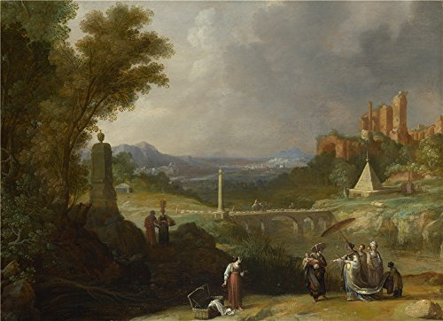 Oil Painting 'Bartholomeus Breenbergh - The Finding Of The Infant Moses By Pharaoh's Daughter,1636' 8 x 11 inch / 20 x 28 cm , on High Definition HD canvas prints, - Website Blizzard Beach