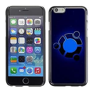TECHCASE**Cubierta de la caja de protección la piel dura para el ** Apple iPhone 6 ** Blue