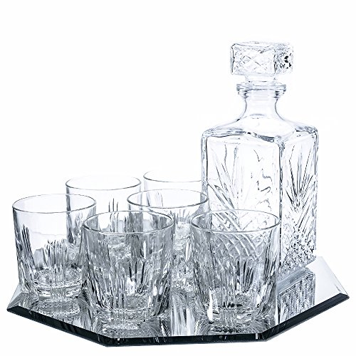 Klikel 8-piece Selecta Whiskey Drinkware Barware Drink Set - Liquor Table
