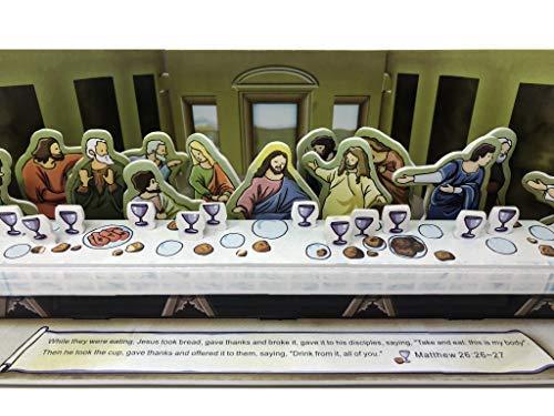 3D Puzzle - Bible Story Twelve Disciples The Last Supper of Jesus Christ with his Apostles - Leonardo da Vinci Religious 33 Pieces DIY Toy Gift No Glue No Tool ()