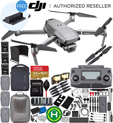 DJI Mavic 2 Pro Drone Quadcopter with Hasselblad Camera 1″ CMOS Sensor with FLY MORE KIT 64GB Ultimate Everything You Need Bundle with Promotional 4-Battery Charging Hub