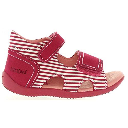 Kickers Sandalen Für Junge und Mädchen 469520-11 BI Sea 213 Fuchsia Blanc