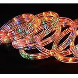 Multi Coloured 10 Metre Flashing Decorative Rope Light Festive Christmas