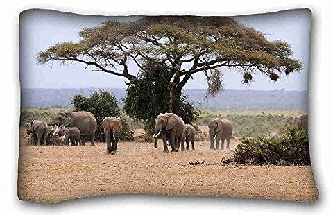 Generic Personalized ( Animal Elephant ) Pillowcase Standard Size 20