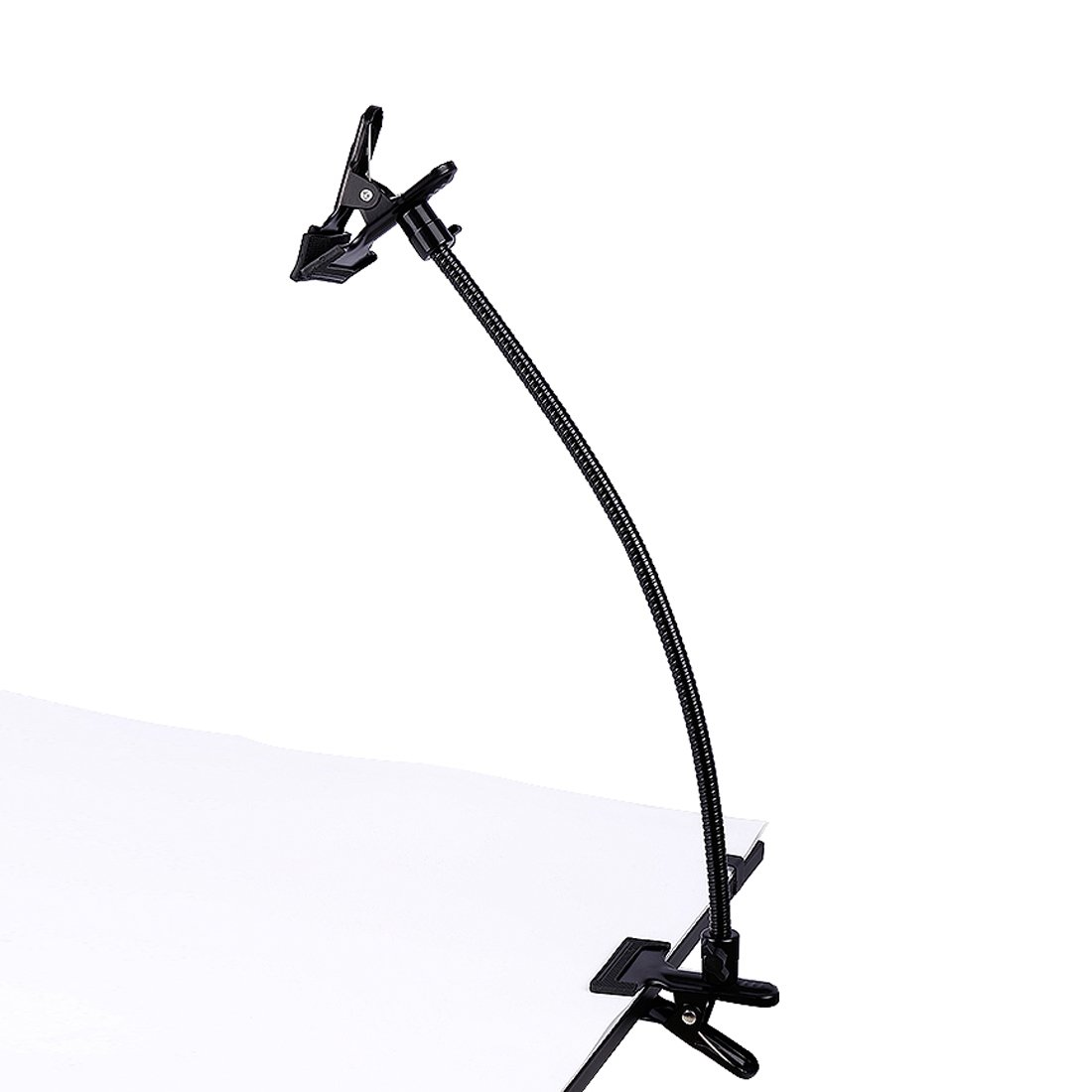 Photo Studio Lighting Light Stand Clamp Background Clip Gooseneck Tube Small Size Reflector Holder by TRUMAGINE