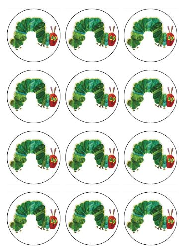 Hungry Caterpillar Edible Cake Toppers